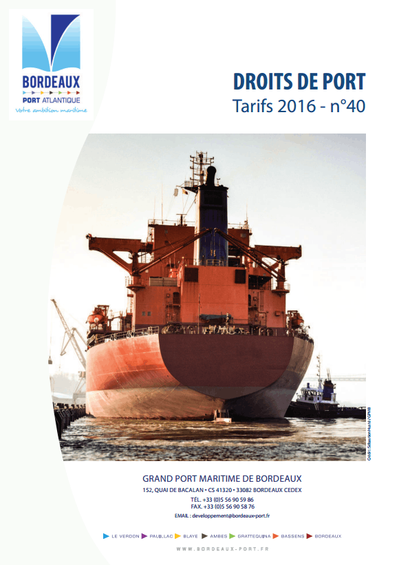 Capture droits de ports 2016 FR
